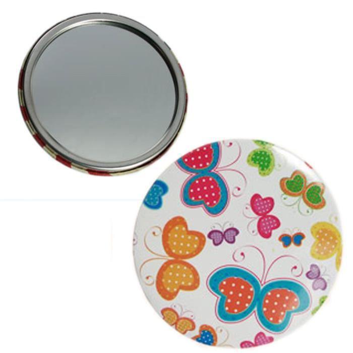 Miroir de sac papillon achat vente miroir de poche for Miroir des 7 astres