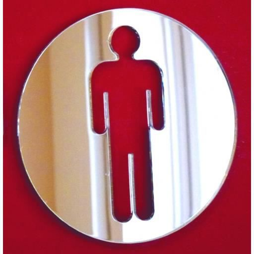 Miroir circulaire homme wc sign 40cm achat vente for Miroir acrylique incassable