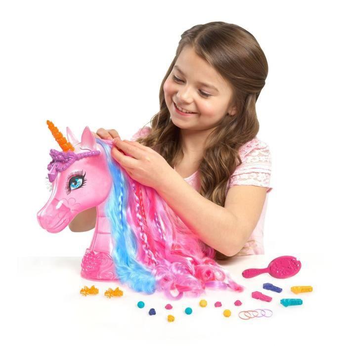 Barbie t te coiffer de luxe licorne achat vente tete - Barbie licorne ...