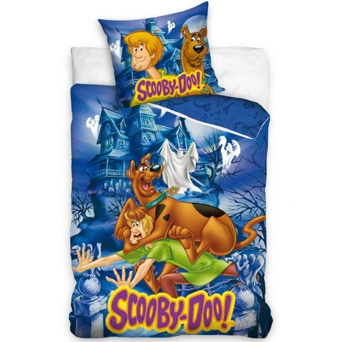 Scooby doo parure housse de couette 160x200 taie achat - Housse de couette pour lit 160 ...