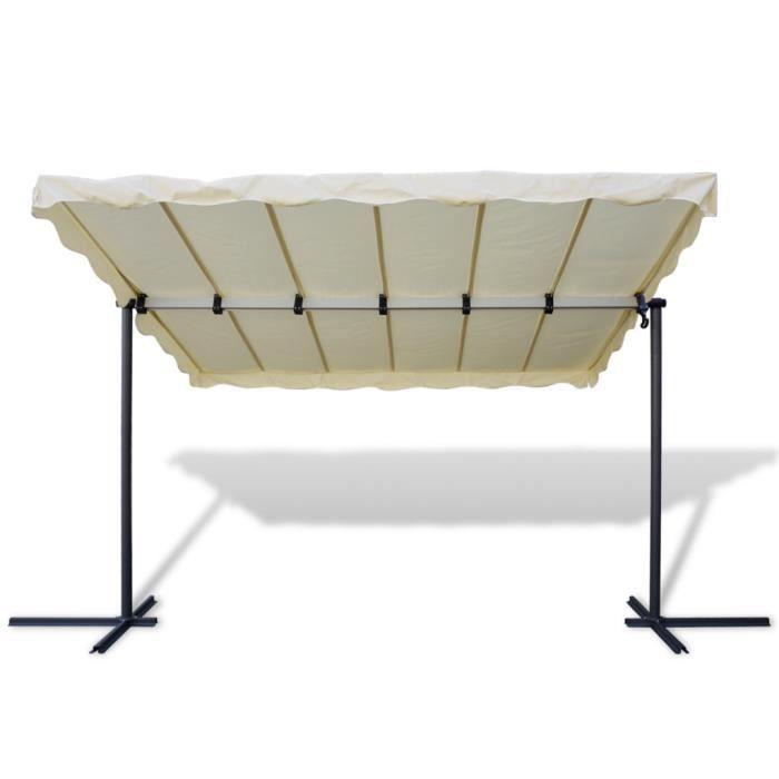 Tonnelle avec toit rétractable beige - Achat / Vente ...