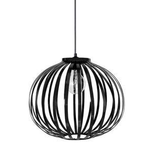 DAVOS Lustre - suspension lamelles forme boule noire ?36 cm E27 40W