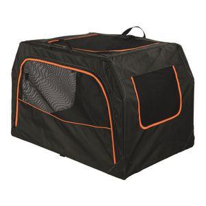 TRIXIE Box de transport Extend - M : 84x54x55 cm - Noir et orange - Pour chien