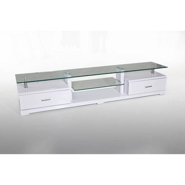 Meuble tv manhattan blanc achat vente meuble tv meuble tv manhattan blanc - Meuble tv verre blanc ...