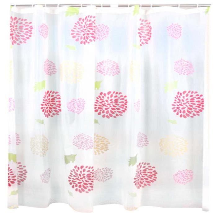 colorful salle de bain pais rideau de fleur imperm able. Black Bedroom Furniture Sets. Home Design Ideas