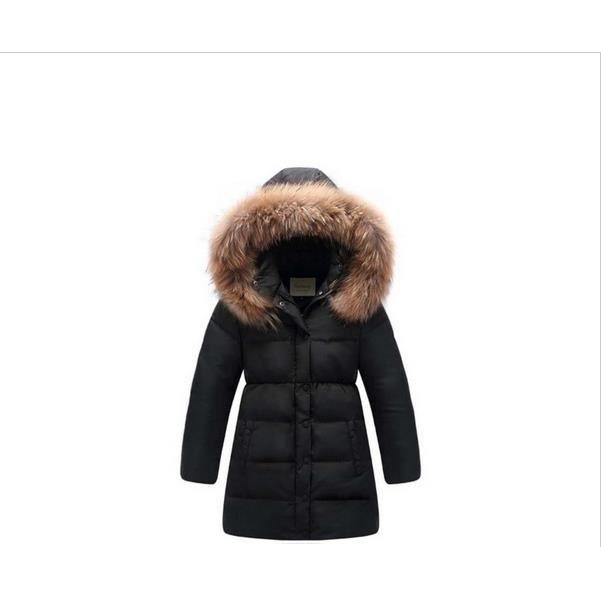 doudoune manteau fille 80 duvet de canard blanc capuche bordee fourrure impermeable taille 12. Black Bedroom Furniture Sets. Home Design Ideas