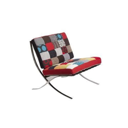 fauteuil retro color patchwork achat vente fauteuil. Black Bedroom Furniture Sets. Home Design Ideas