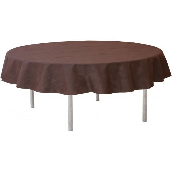 la nappe ronde en intiss couleur chocolat achat. Black Bedroom Furniture Sets. Home Design Ideas