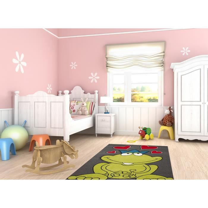 tapis pour chambre de fille love frog achat vente. Black Bedroom Furniture Sets. Home Design Ideas