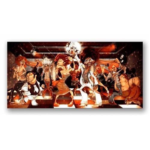tableau toile cadre en bois dagprints music disco club 2 120x60 cm achat vente tableau. Black Bedroom Furniture Sets. Home Design Ideas