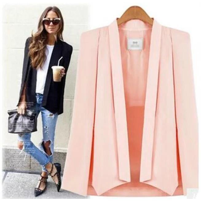 nouvelle veste de manteau manteau de grande taille profession raffin et l gant blazer femme. Black Bedroom Furniture Sets. Home Design Ideas