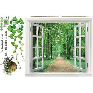 Poster mural fenetre achat vente poster mural fenetre pas cher cdiscount for Poster mural paysage pas cher