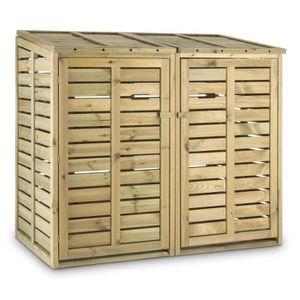 poubelle bois achat vente poubelle bois pas cher cdiscount. Black Bedroom Furniture Sets. Home Design Ideas