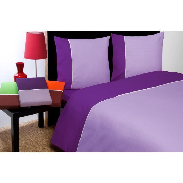 housse de couette violet et lilas collection prestige 2 places fabriqu e en ce achat. Black Bedroom Furniture Sets. Home Design Ideas