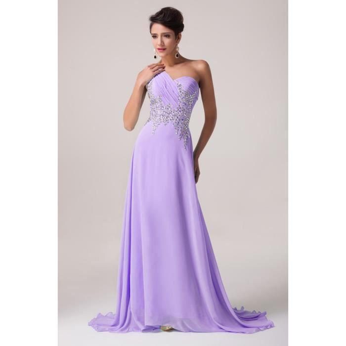 robe de mari e soir e mauve tailles du 32 au 46 violet