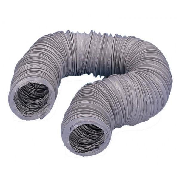 gaine souple pvc gris ventilation diametre 125mm 2 achat vente vmc accessoires vmc gaine. Black Bedroom Furniture Sets. Home Design Ideas