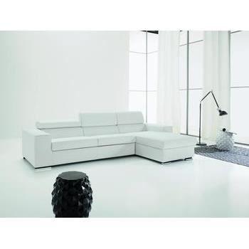 canap d 39 angle convertible en pu trentino plusieurs couleurs au choix taupe l 293 x p 159 x h. Black Bedroom Furniture Sets. Home Design Ideas