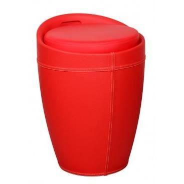 tabouret avec rangement savannah rouge achat vente. Black Bedroom Furniture Sets. Home Design Ideas