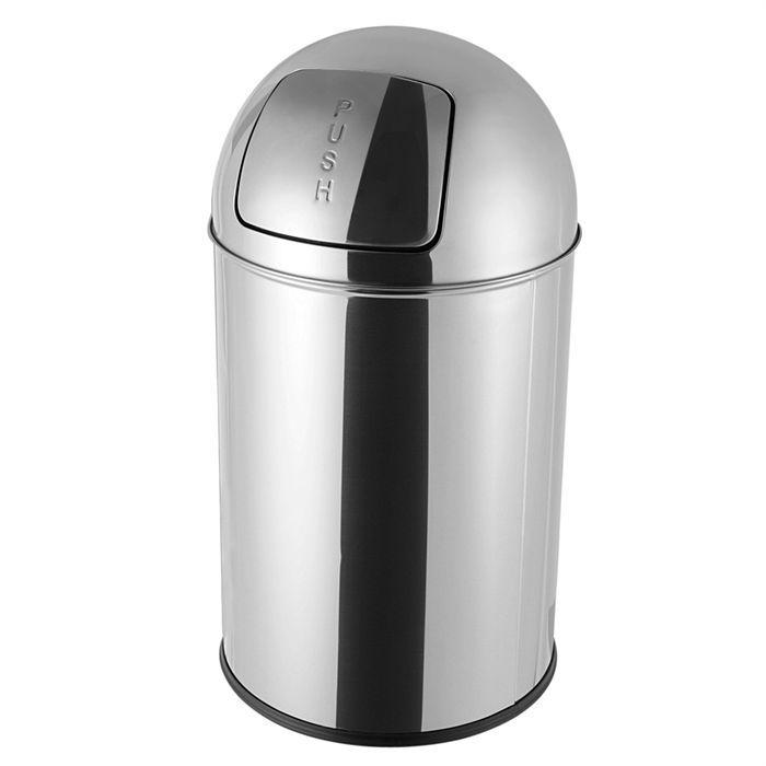 Faveco poubelle en inox 17l push achat vente - Poubelle de salle de bain inox ...