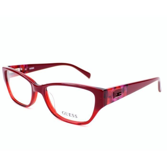 lunettes de vue guess gu2408 rd rouge rouge achat vente lunettes de vue lunettes de vue. Black Bedroom Furniture Sets. Home Design Ideas