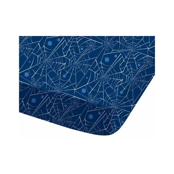 spiderman drap housse 90 x 190 cm 100 coton achat. Black Bedroom Furniture Sets. Home Design Ideas