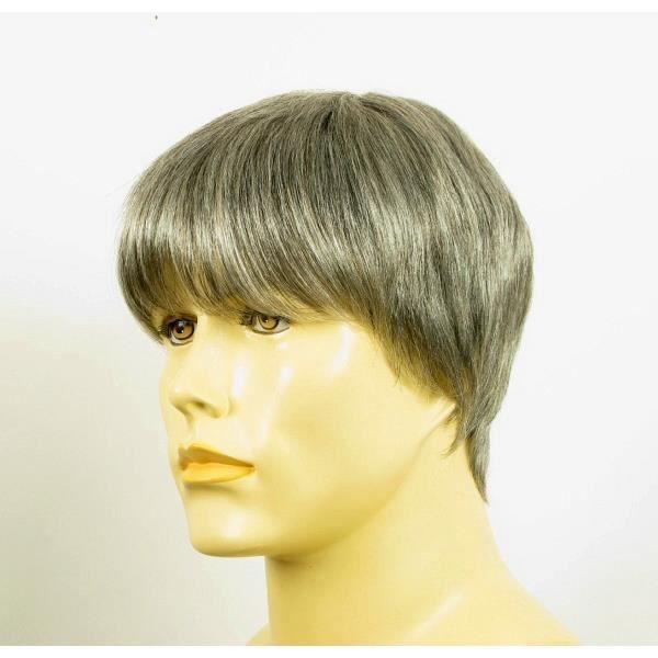perruque homme cheveux naturels courte poivre et sel ref alan 44 achat vente perruque. Black Bedroom Furniture Sets. Home Design Ideas