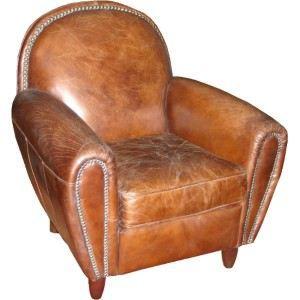 Fauteuil cuir vintage dossier rond clout achat vente fauteuil cdiscount - Fauteuil cuir vieilli vintage ...