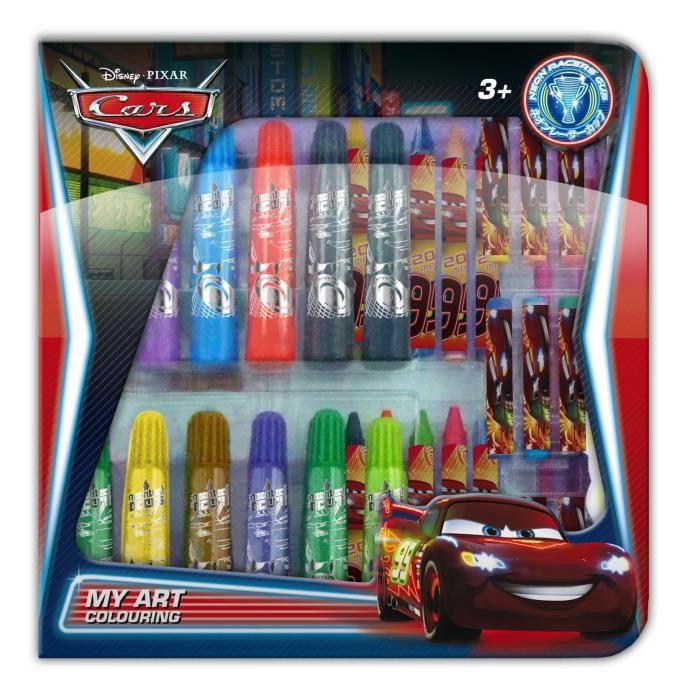 Cars malette de coloriage transparente my art achat vente kit de dessin cars malette - Coffret coloriage cars leclerc ...
