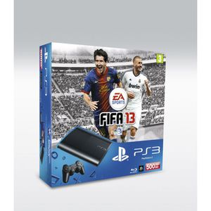 CONSOLE PS3 PACK PS3 SLIM NOIRE 500 GO + FIFA 13