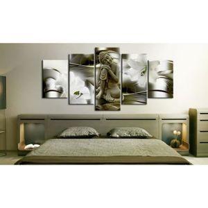 tableau bouddha 200x100 achat vente tableau bouddha 200x100 pas cher cdiscount. Black Bedroom Furniture Sets. Home Design Ideas