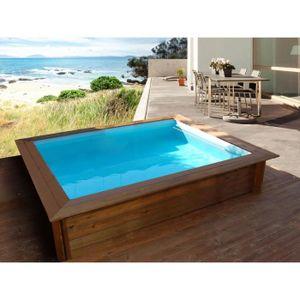 Piscine hors sol bois 3m x4m achat vente piscine hors for Piscine coque carree 3x3