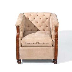 fauteuil cuir beige achat vente fauteuil cuir beige pas cher cdiscount. Black Bedroom Furniture Sets. Home Design Ideas