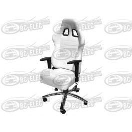 Si ge baquet cuir blanc fauteuil de bureau achat vente - Siege de bureau blanc ...