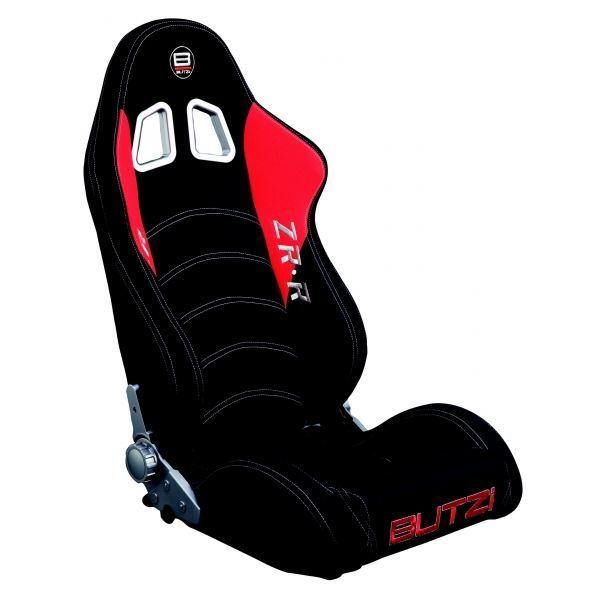 baquet butzi noir et rouge avec couture blanche achat. Black Bedroom Furniture Sets. Home Design Ideas