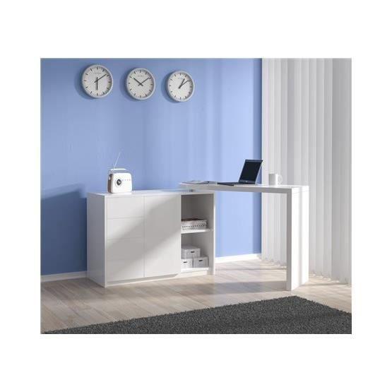 bureau modulable edouard blanc achat vente bureau bureau modulable edouard bl cdiscount. Black Bedroom Furniture Sets. Home Design Ideas