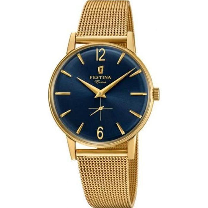 montre festina homme extra acier dor bracelet milanais f20253 2 achat vente montre montre. Black Bedroom Furniture Sets. Home Design Ideas