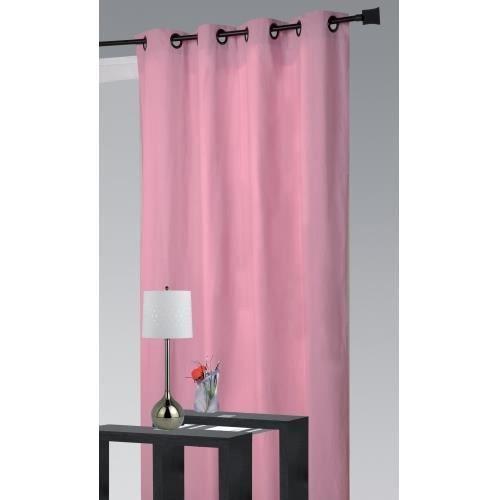 rideau ameublement assouan rose 140x260cm achat vente rideau coton cdiscount. Black Bedroom Furniture Sets. Home Design Ideas