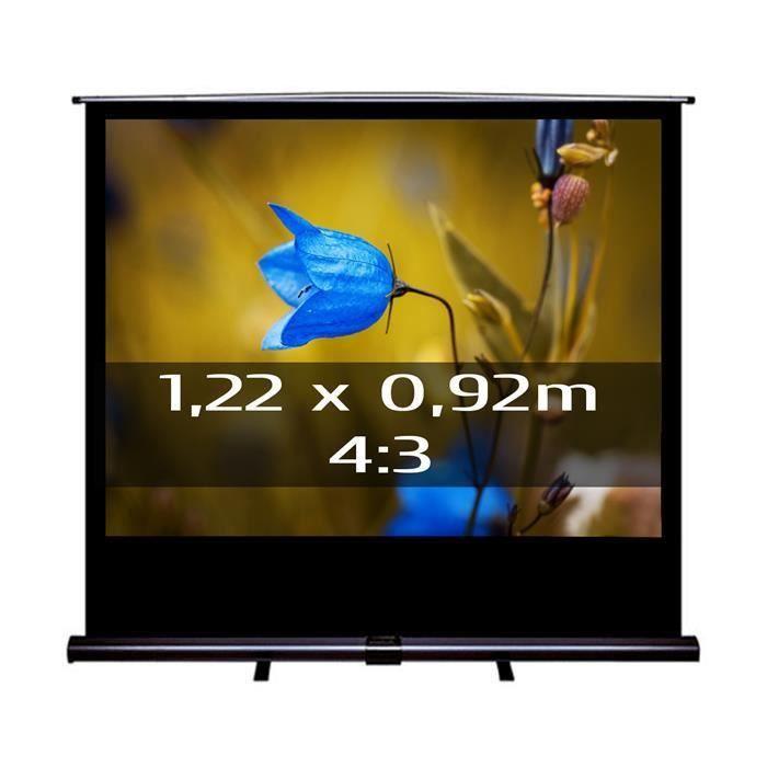 ecran de projection transportable 1 22 x 0 92m ecran de. Black Bedroom Furniture Sets. Home Design Ideas