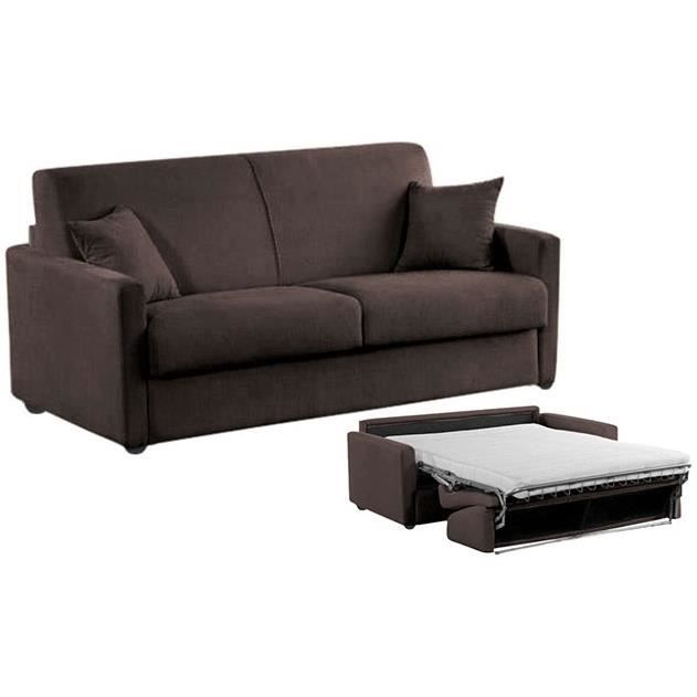 canap convertible star microfibre marron 120x190 achat vente canap sofa divan. Black Bedroom Furniture Sets. Home Design Ideas