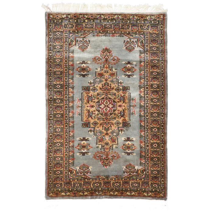 tapis d 39 orient nou main esfahanie soie 16 gri achat vente tapis soldes cdiscount. Black Bedroom Furniture Sets. Home Design Ideas