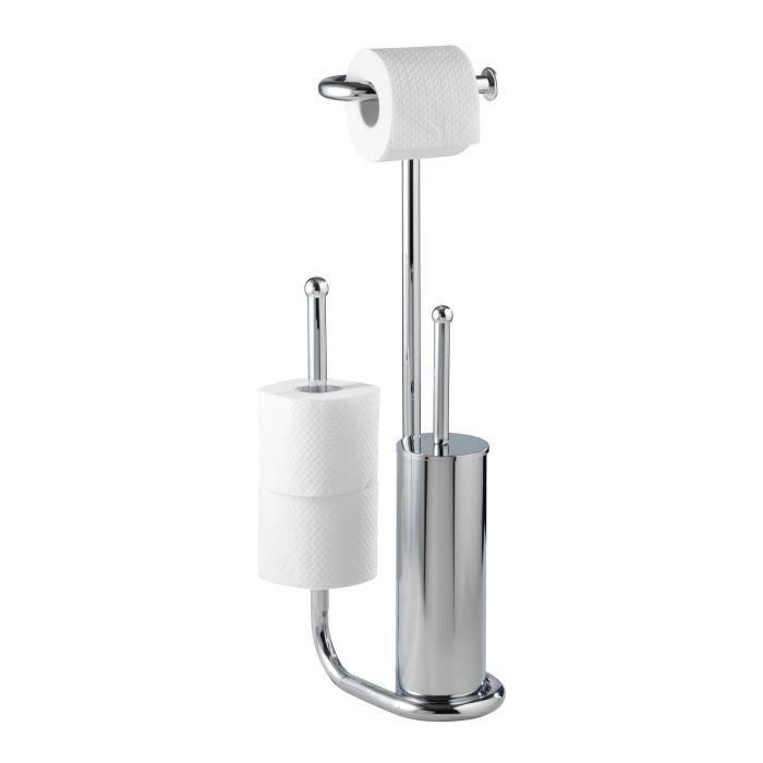 Ensemble wc sur pied universalo chrome chrome achat vente set accessoir - Ensemble accessoires wc ...