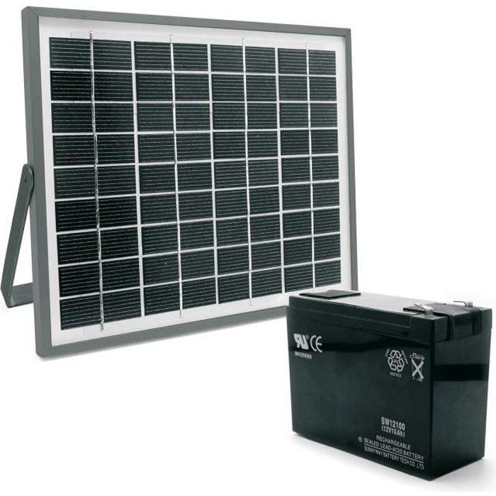 Kit solaire 614373 pour motorisation portail achat for Lampe solaire pour portail