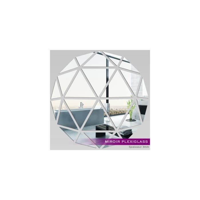 Miroir plexiglass acrylique mosa que en triangles ref for Miroir en acrylique