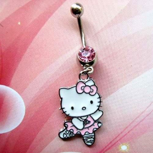 percing nombril hello kitty cristal rose achat vente piercing banane percing nombril hello. Black Bedroom Furniture Sets. Home Design Ideas