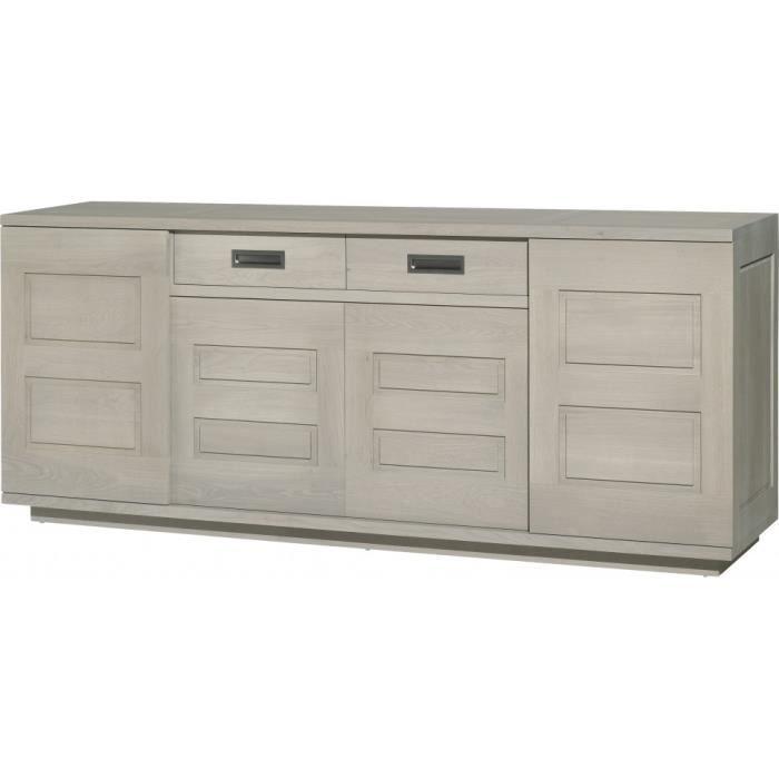 bahut bas ambre ch ne massif gris argent 4 portes coulissantes 1 tiroir achat vente buffet. Black Bedroom Furniture Sets. Home Design Ideas