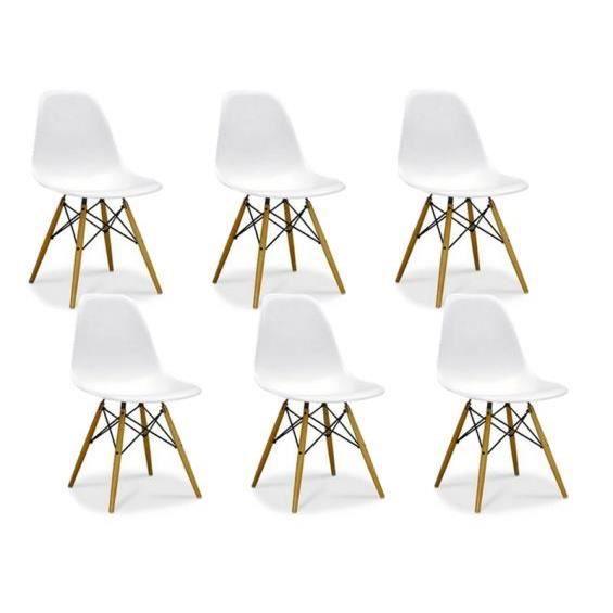 Zoom lot de 6 chaises design achat vente chaise - Lot de 6 chaises design ...