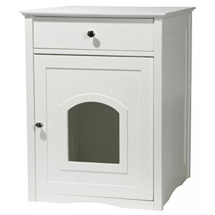 dobar 35273 mohrle meuble de rangement pour chat avec tiroir blanc 52 x 40 x 63 cm achat. Black Bedroom Furniture Sets. Home Design Ideas
