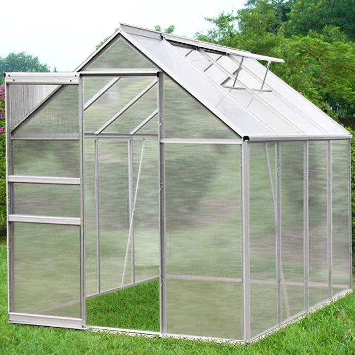 Serre de jardin abri 7 6 m 2 lucarnes achat vente - Arceaux pour serre de jardin ...