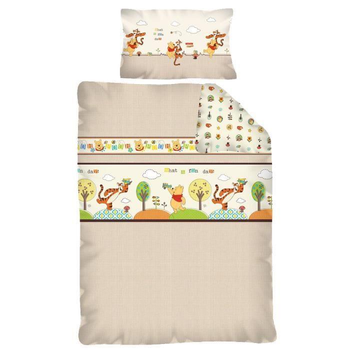 Parure de lit winnie l 39 ourson achat vente parure de drap cdiscount - Cdiscount parure de lit ...