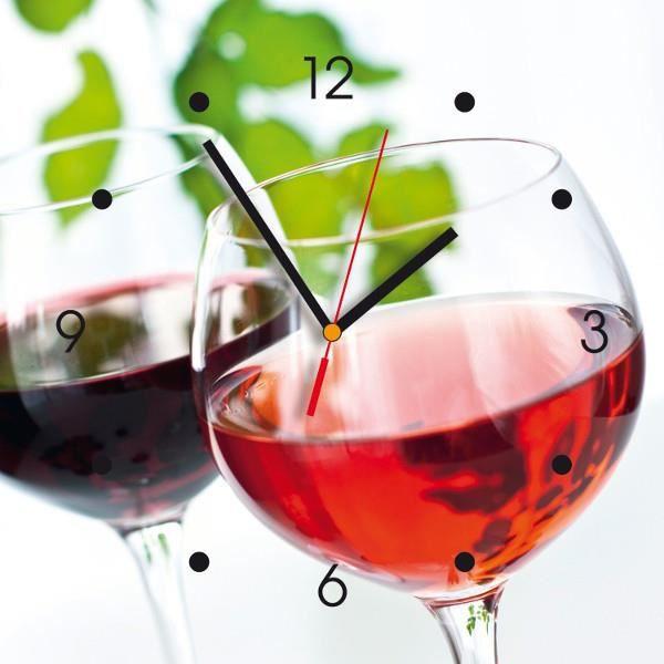 Horloge murale autour du vin achat vente horloge - Horloge murale sans bruit ...